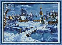 """Набор для вышивки крестом с печатью на ткани 14ст  """"Мир льда и снега  """""""