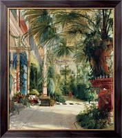Картина Интерьер пальмового дома, Блехен, Карл