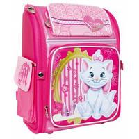 Рюкзак ортопедический каркасный ранец ТМ 1 Вересня Н-19 Marie Cat школьный для девочки первоклассницы 551414
