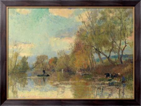 Картина Прачки, 1898, Лебург, Альберт - Макросвит в Киеве