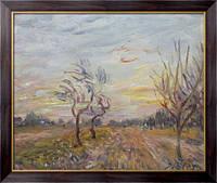Картина Сад в окрестностях Море-сюр-Луан, 1890, Сислей, Альфред