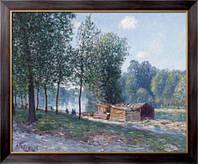 Картина Каюты на берегу Луана, утренний эффект, 1896, Сислей, Альфред
