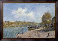 Картина Прачки на берегу реки, 1884, Сислей, Альфред