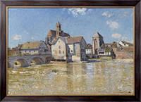 Картина Мост в Море, апрельское утро, 1888, Сислей, Альфред