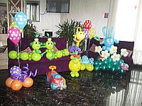 Оформление Веселые зверюшки из воздушных шариков