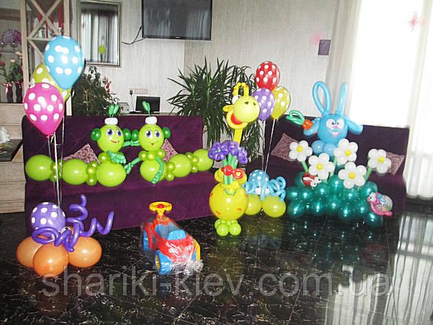 Оформление Веселые зверюшки из воздушных шариков, фото 2