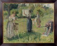 Картина Прачки в  Эрани, эскиз,  1901, Писсарро, Камиль