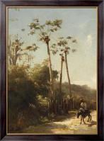 Картина Антильский пейзаж и всадник на осле, 1856, Писсарро, Камиль