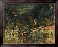Картина Бульвар ночью в Париже, Коровин, Константин Алексеевич