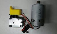Выключатель + двигатель шуруповерта 18 V