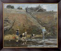 Картина Прачки на берегу реки, 1885-90, Будэн, Эжен