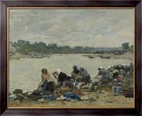 Картина Прачки на берегу реки Тук, 1885-1890, Будэн, Эжен