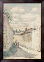 Картина Улица в Овер-сюр-Уаз, 1883, Хассам, Фредерик Чайлд
