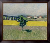 Картина Лужайка возле моста Аржантей, 1882-86, Кайботт, Густав