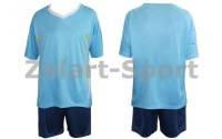 Форма футбольная без номера CO-5401-ВL (PL, р-р M-46-48, L-48-50, голубые, шорты синие)