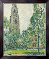 Картина Башня с часами, Харкнесс Мемориал, 1930,  Уиггинс, Гай Кэрлтон