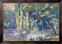 Картина Семья лебедей  (лес Булонь), Кросс, Анри Эдмон