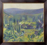 Картина Зеленая долина в Лабасти-дю-Вер, 1920, Мартин, Анри Жан Гийом Мартин