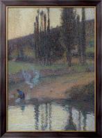Картина Прачка на берегу реки, 1905, Мартин, Анри Жан Гийом Мартин