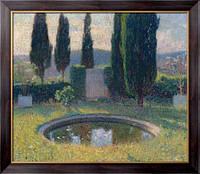 Картина Маленький бассейн в интерьере парка Маркьироль на юго-западе (в начале лета), Мартин, Анри Жан Гийом Мартин