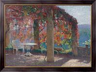 Картина Беседка на юго-западе Маркьироль осенью, Мартин, Анри Жан Гийом Мартин