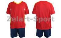 Форма футбольная без номера CO-5401-R (PL, р-р M-46-48, L-48-50, красная, шорты синие)