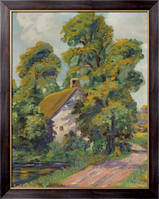 Картина Дом возле дороги,  Бюхр, Карл Альберт