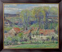 Картина Дом художника весной, 1909-11,  Бюхр, Карл Альберт