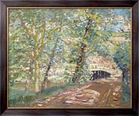Картина Мост к дому художника, 1908-11,  Бюхр, Карл Альберт