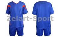 Форма футбольная без номера CO-5402-В (PL, р-р M-46-48, L-48-50, синяя, шорты синие)