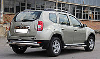 Защита заднего бампера (труба) Renault Duster Дастер