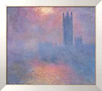 Картина Здание парламента, солнце в тумане (1900-1901), Моне, Клод