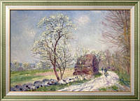 Картина Пейзаж с цветущими деревьями, 1889, Сислей, Альфред