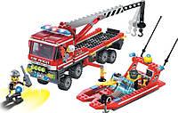 """Конструктор """"Пожарная техника"""" 420 деталей Brick 907"""