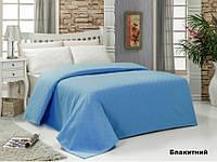 Простынь-покрывало пике 160х240 Arya Dama голубой.
