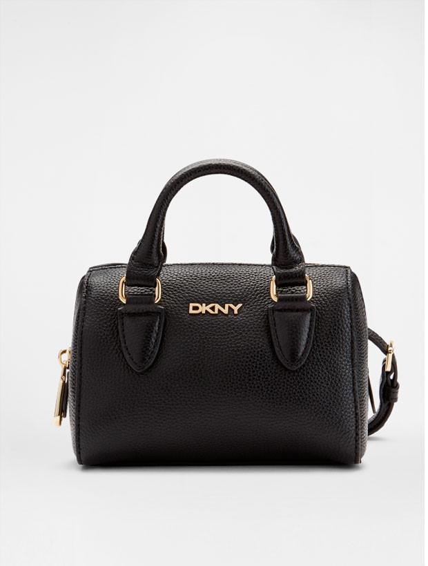 DKNY Mini Round Satchel black вид спереди