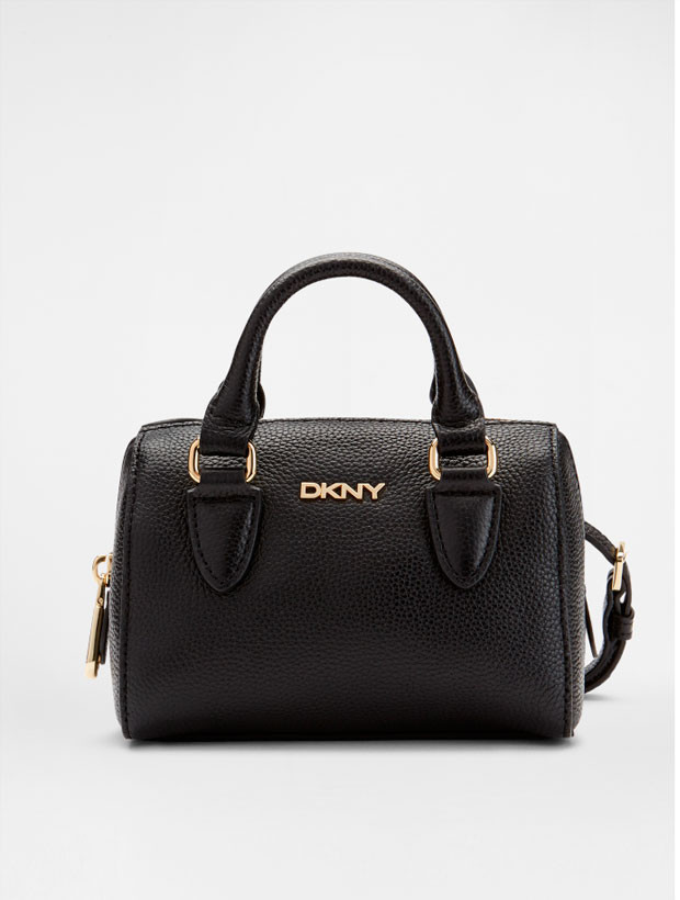 DKNY Mini Round Satchel black вид спереди