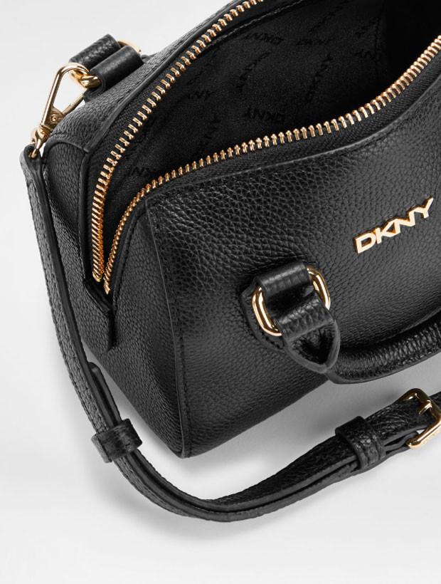 DKNY Mini Round Satchel black внутреннее устройство