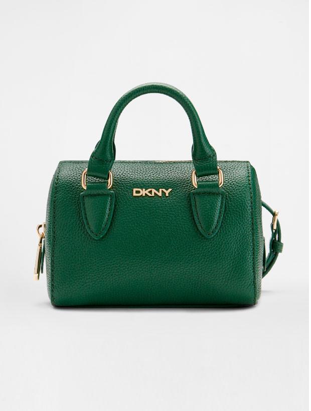 DKNY Mini Round Satchel green вид спереди