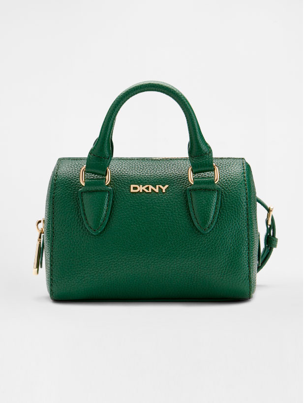 DKNY Mini Round Satchel green вид спереди