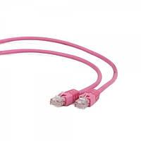 """Литой патч корд cablexpert pp6-1m/ro розовый utp категория 6 50u """"штекер с защелкой 1 метр"""