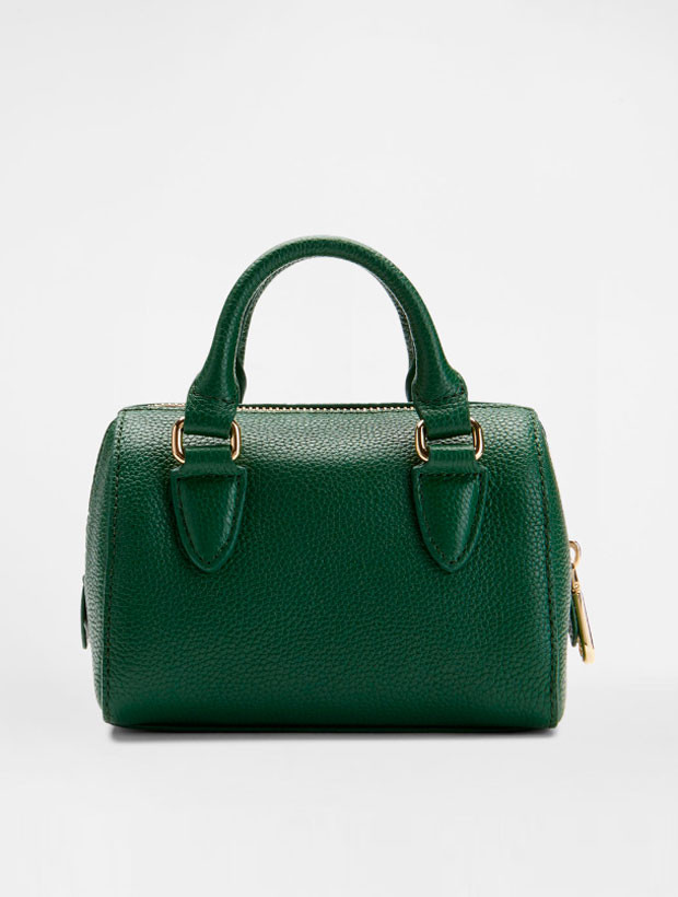DKNY Mini Round Satchel green вид сзади
