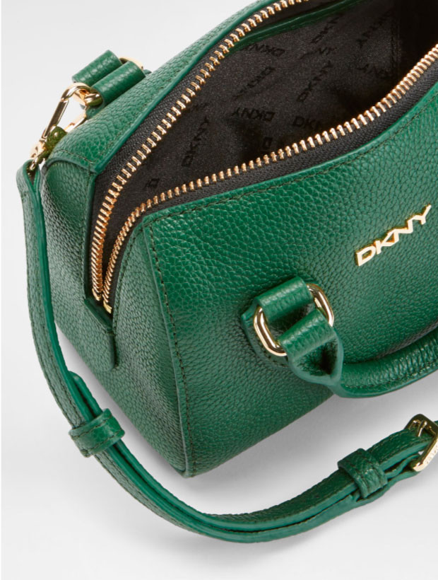 DKNY Mini Round Satchel green внутреннее устройство
