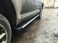 Volkswagen Touareg 2010+/2015+ гг. Боковые площадки Maya V1 (2 шт., алюминий)