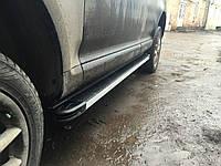 Volkswagen Touareg 2002-2010 гг. Боковые площадки Maya V1 (2 шт., алюминий)