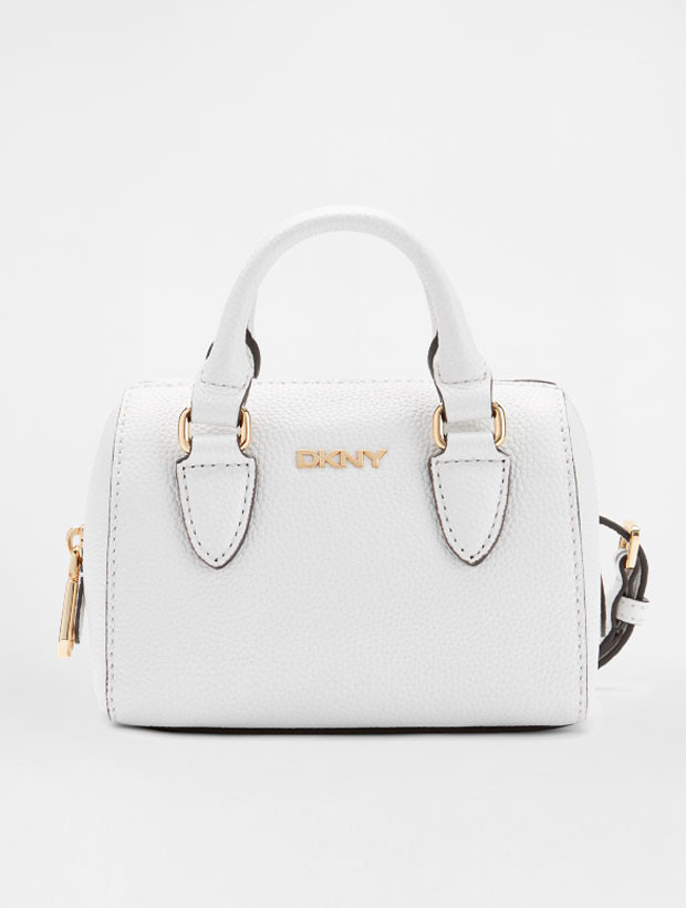 DKNY Mini Round Satchel white | вид спереди