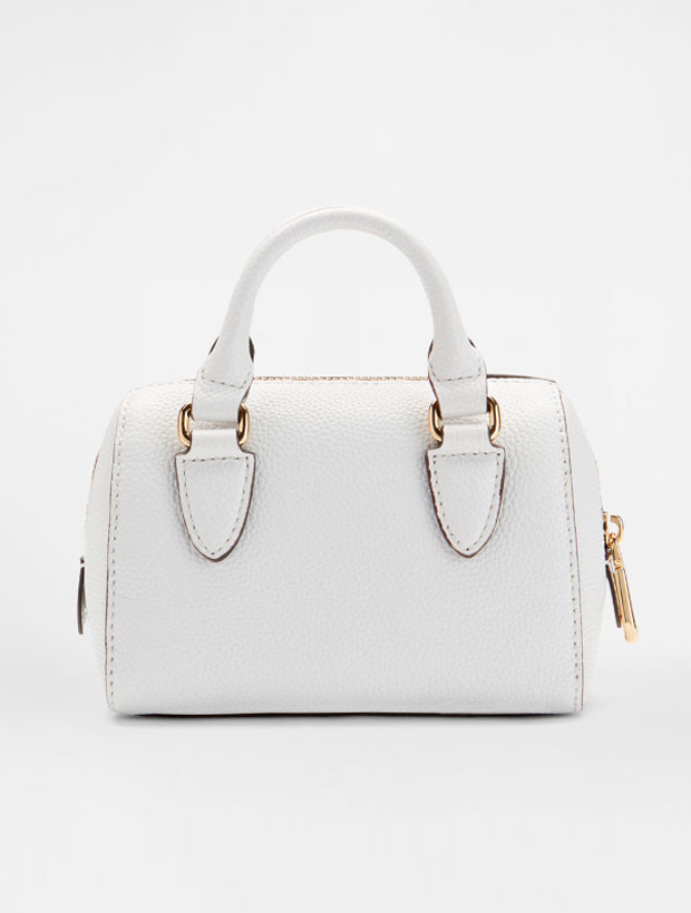 DKNY Mini Round Satchel white | вид сзади
