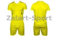 Форма футбольная без номера подростковая CO-3123-Y (PL, р-р S-L, желтая, шорты желтые)