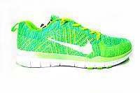 Женские, подростковые кроссовки Nike Free Flyknit, текстиль, салатовые, Р. 38 41