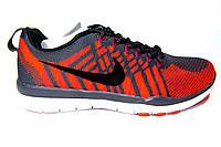 Женские, подростковые кроссовки Nike Free Flyknit, текстиль, серые с оранжевым, Р. 37 40